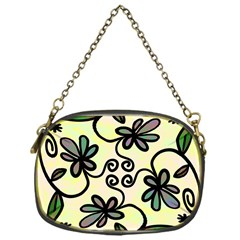 Completely Seamless Tileable Doodle Flower Art Chain Purses (One Side)
