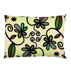Completely Seamless Tileable Doodle Flower Art Pillow Case