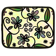 Completely Seamless Tileable Doodle Flower Art Netbook Case (XXL)