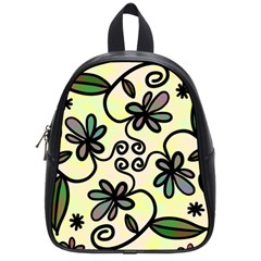 Completely Seamless Tileable Doodle Flower Art School Bags (small)
