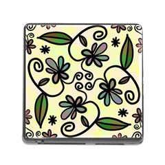 Completely Seamless Tileable Doodle Flower Art Memory Card Reader (Square)