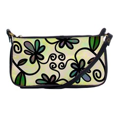 Completely Seamless Tileable Doodle Flower Art Shoulder Clutch Bags