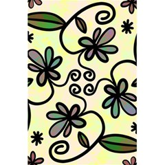 Completely Seamless Tileable Doodle Flower Art 5 5  X 8 5  Notebooks