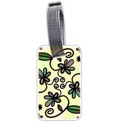 Completely Seamless Tileable Doodle Flower Art Luggage Tags (two Sides)