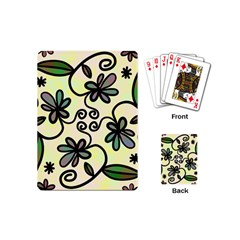 Completely Seamless Tileable Doodle Flower Art Playing Cards (mini)