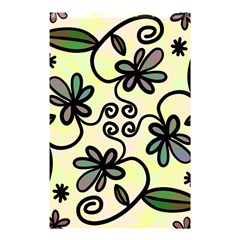 Completely Seamless Tileable Doodle Flower Art Shower Curtain 48  X 72  (small)