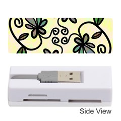 Completely Seamless Tileable Doodle Flower Art Memory Card Reader (Stick)