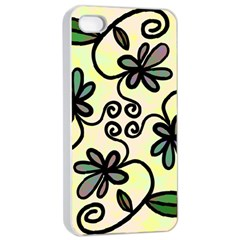 Completely Seamless Tileable Doodle Flower Art Apple Iphone 4/4s Seamless Case (white)
