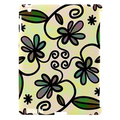 Completely Seamless Tileable Doodle Flower Art Apple Ipad 3/4 Hardshell Case (compatible With Smart Cover)
