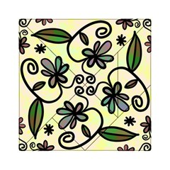 Completely Seamless Tileable Doodle Flower Art Acrylic Tangram Puzzle (6  X 6 )