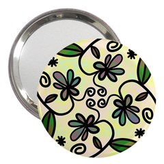 Completely Seamless Tileable Doodle Flower Art 3  Handbag Mirrors