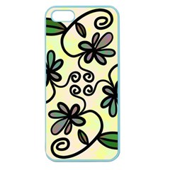 Completely Seamless Tileable Doodle Flower Art Apple Seamless iPhone 5 Case (Color)