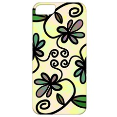 Completely Seamless Tileable Doodle Flower Art Apple Iphone 5 Classic Hardshell Case