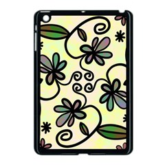 Completely Seamless Tileable Doodle Flower Art Apple Ipad Mini Case (black)