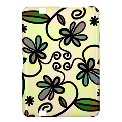 Completely Seamless Tileable Doodle Flower Art Kindle Fire HD 8.9