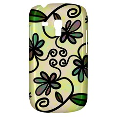 Completely Seamless Tileable Doodle Flower Art Galaxy S3 Mini