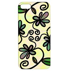 Completely Seamless Tileable Doodle Flower Art Apple Iphone 5 Hardshell Case With Stand