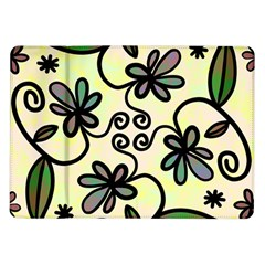 Completely Seamless Tileable Doodle Flower Art Samsung Galaxy Tab 10.1  P7500 Flip Case