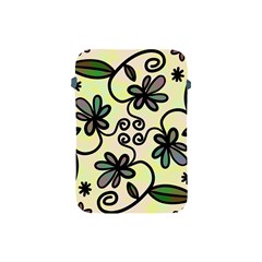 Completely Seamless Tileable Doodle Flower Art Apple Ipad Mini Protective Soft Cases