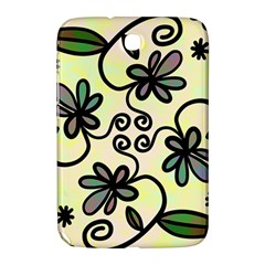Completely Seamless Tileable Doodle Flower Art Samsung Galaxy Note 8.0 N5100 Hardshell Case