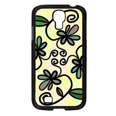 Completely Seamless Tileable Doodle Flower Art Samsung Galaxy S4 I9500/ I9505 Case (Black)