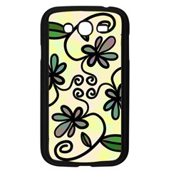 Completely Seamless Tileable Doodle Flower Art Samsung Galaxy Grand DUOS I9082 Case (Black)