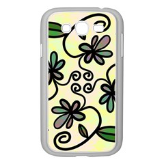 Completely Seamless Tileable Doodle Flower Art Samsung Galaxy Grand Duos I9082 Case (white)