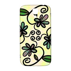 Completely Seamless Tileable Doodle Flower Art Samsung Galaxy S4 I9500/I9505  Hardshell Back Case