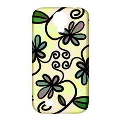 Completely Seamless Tileable Doodle Flower Art Samsung Galaxy S4 Classic Hardshell Case (pc+silicone)