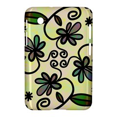 Completely Seamless Tileable Doodle Flower Art Samsung Galaxy Tab 2 (7 ) P3100 Hardshell Case