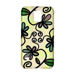 Completely Seamless Tileable Doodle Flower Art Samsung Galaxy S5 Hardshell Case