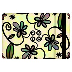 Completely Seamless Tileable Doodle Flower Art Ipad Air Flip