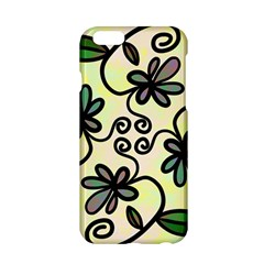 Completely Seamless Tileable Doodle Flower Art Apple iPhone 6/6S Hardshell Case