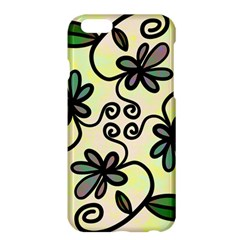 Completely Seamless Tileable Doodle Flower Art Apple Iphone 6 Plus/6s Plus Hardshell Case