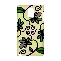Completely Seamless Tileable Doodle Flower Art Samsung Galaxy Note 4 Hardshell Case