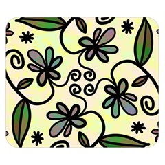 Completely Seamless Tileable Doodle Flower Art Double Sided Flano Blanket (small)