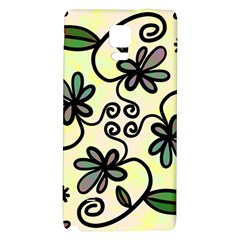 Completely Seamless Tileable Doodle Flower Art Galaxy Note 4 Back Case
