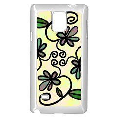 Completely Seamless Tileable Doodle Flower Art Samsung Galaxy Note 4 Case (white)