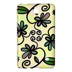 Completely Seamless Tileable Doodle Flower Art Samsung Galaxy Tab 4 (8 ) Hardshell Case