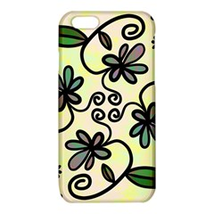 Completely Seamless Tileable Doodle Flower Art iPhone 6/6S TPU Case