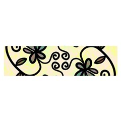 Completely Seamless Tileable Doodle Flower Art Satin Scarf (oblong)