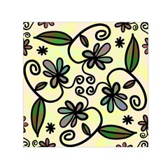 Completely Seamless Tileable Doodle Flower Art Small Satin Scarf (Square)