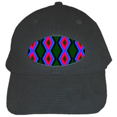 Quadrate Repetition Abstract Pattern Black Cap