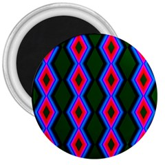 Quadrate Repetition Abstract Pattern 3  Magnets