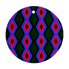 Quadrate Repetition Abstract Pattern Ornament (Round)