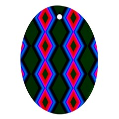 Quadrate Repetition Abstract Pattern Ornament (Oval)