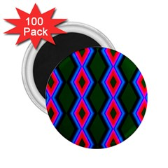 Quadrate Repetition Abstract Pattern 2.25  Magnets (100 pack)