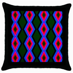 Quadrate Repetition Abstract Pattern Throw Pillow Case (Black)