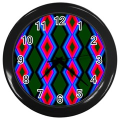 Quadrate Repetition Abstract Pattern Wall Clocks (black)