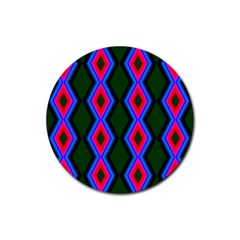 Quadrate Repetition Abstract Pattern Rubber Round Coaster (4 pack)
